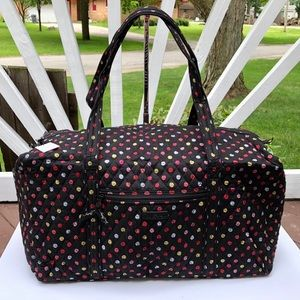 Vera Bradley Large Duffel Bag in Havana Dots